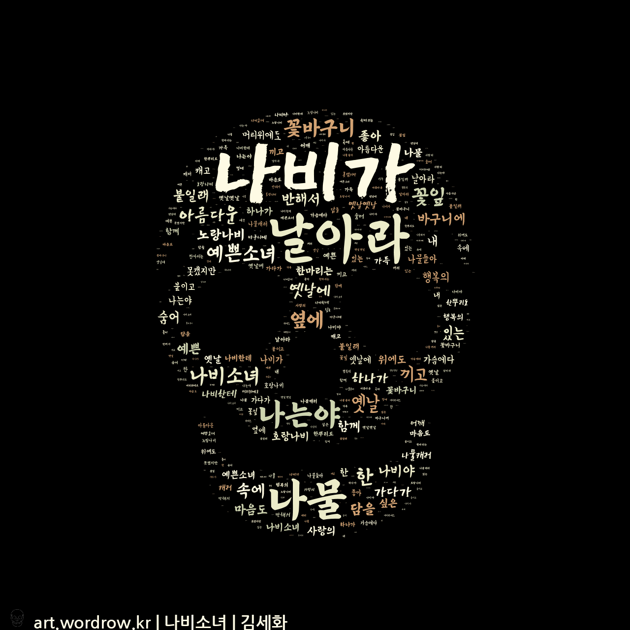 워드 클라우드: 나비소녀 [김세화]-14